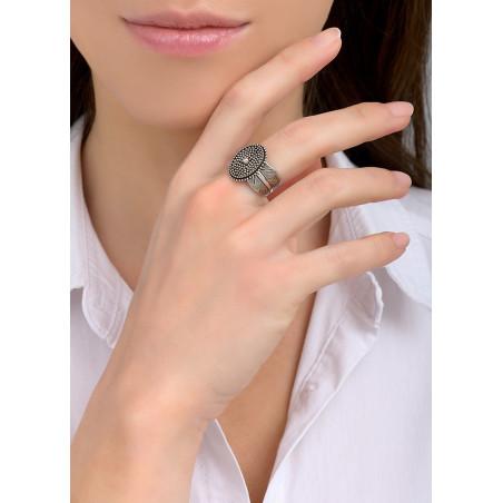 Bague ajustable moderne métal | argenté84582