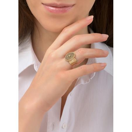 Bague ajustable glamour métal | doré84587