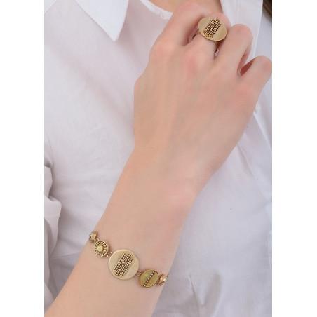 Bracelet soupe tendance nacre et cristal | jaune84767