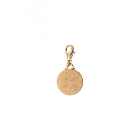Médaille gravée small féminine métal I doré