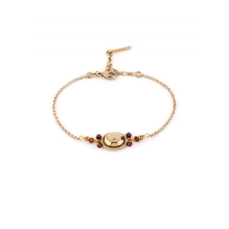 Bracelet élégant cristal et grenat | Mauve