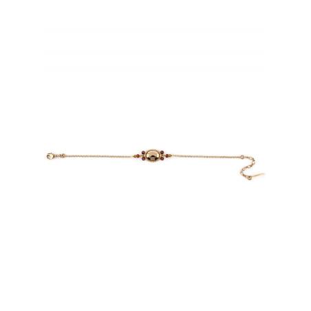 Bracelet élégant cristal et grenat | Mauve84972