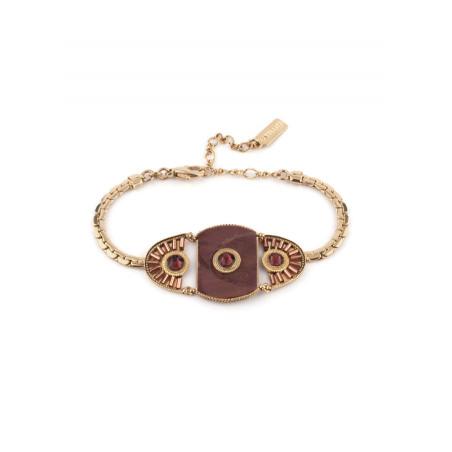 Bohemian feather crystal bracelet | Mauve