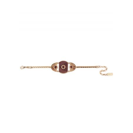 Bohemian feather crystal bracelet | Mauve84980