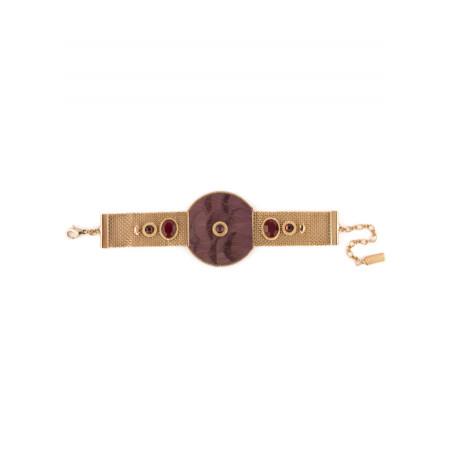 Chunky feather crystal bracelet | Mauve84985