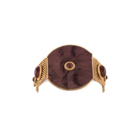 Chunky feather crystal bracelet | Mauve84986