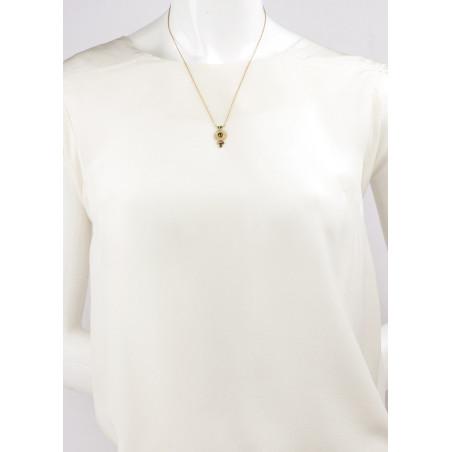 Collier pendentif féminin cristal et jade | Kaki84989