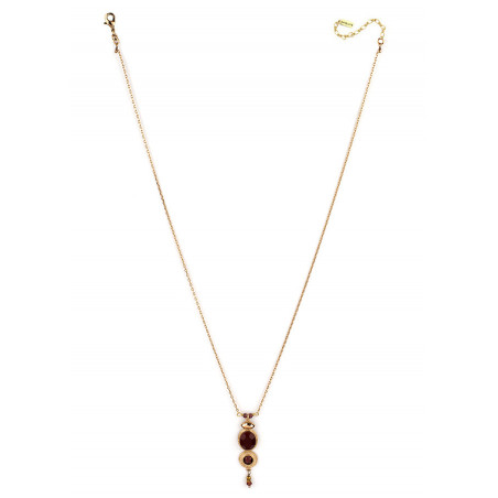 Refined crystal and garnet pendant necklace|Mauve84997