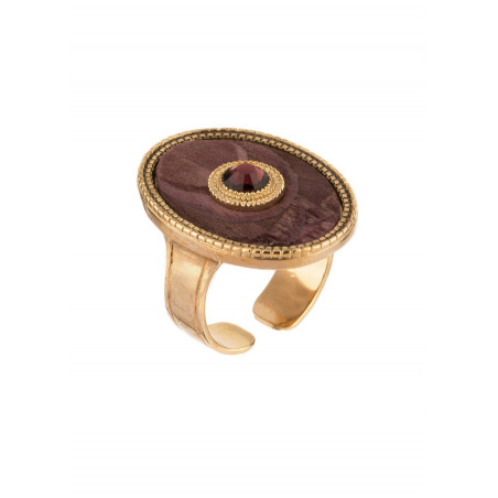 Arty feather crystal ring | Mauve