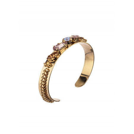Bracelet jonc raffiné cristal | Vieux rose