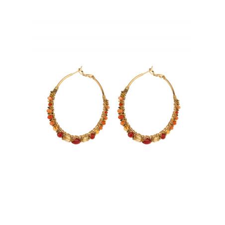 Precious garnet hoop earrings for pierced ears | Plum