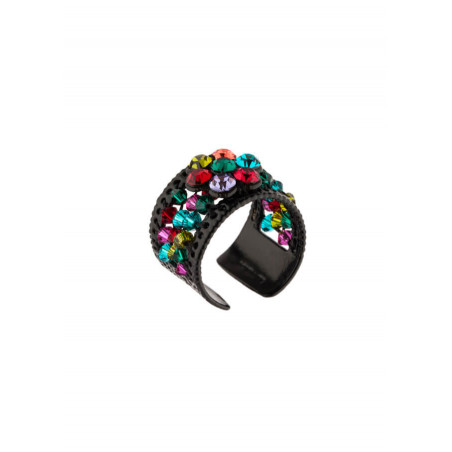 Glamorous lacquered metal ring | Multicoloured