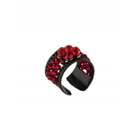 On-trend lacquered metal ring | Red