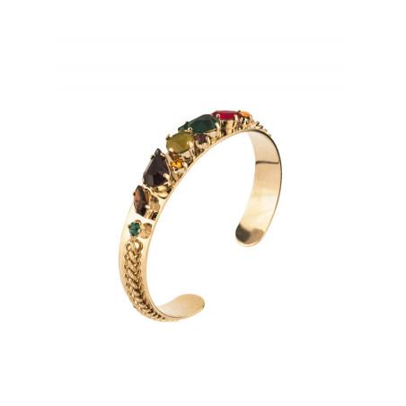 Bracelet jonc poétique cristal | Multicolore