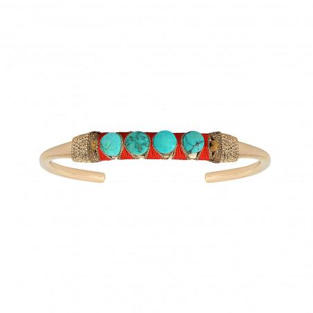 Bracelet jonc ajustable tissé féminin turquoise I turquoise