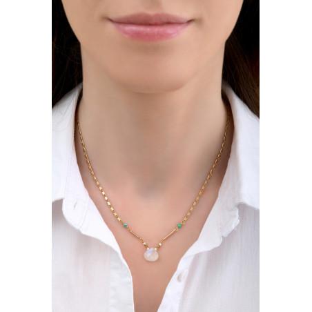 Collier pendentif minimaliste pierre de lune I blanc85236