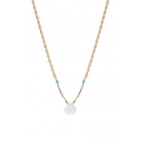 Minimalist moonstone pendant necklace | white85238