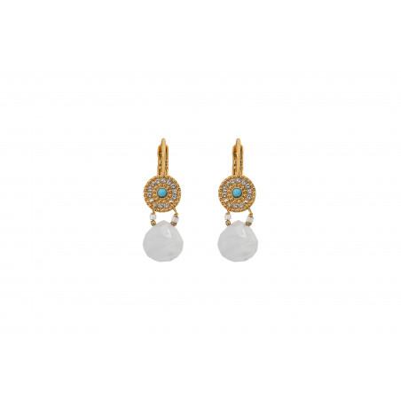 Poetic moonstone sleeper earrings   white
