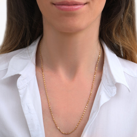 Collier chaîne long féminin I doré85275