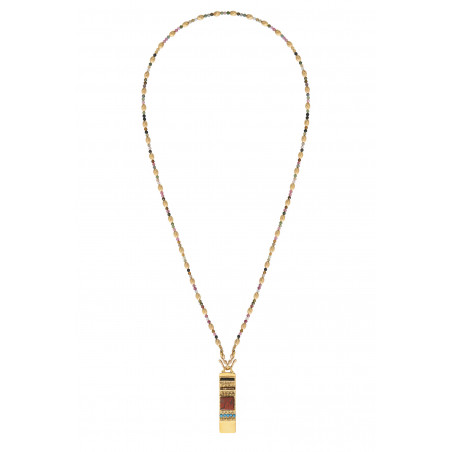 Collier gemme medium tourmaline I rose85282