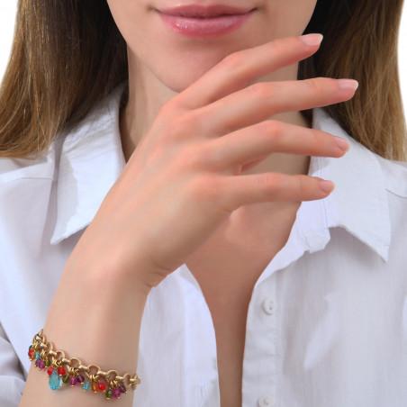 Bracelet souple fantaisie perles cristal I multicolore85327