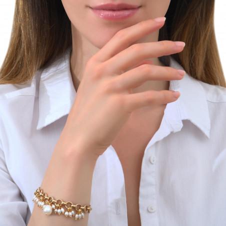 Bracelet souple élégant perles de rivière I blanc85336