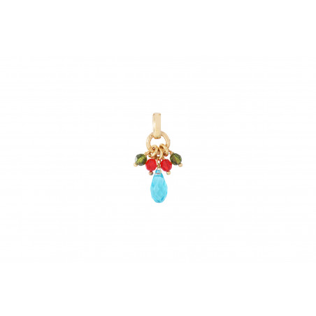 Pendentif festif perles cristal I multicolore