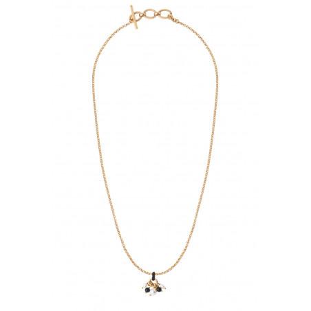 Pendentif raffiné perles de rivière et onyx I noir85357