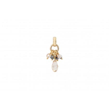 Pendentif baroque perles cristal I doré
