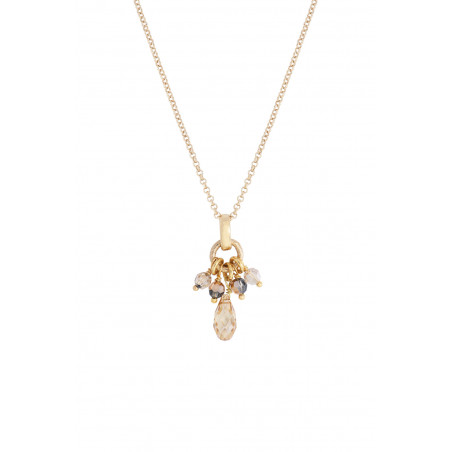 Pendentif baroque perles cristal I doré85360