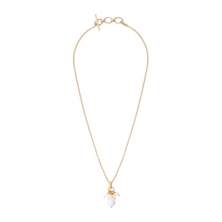 Pendentif romantique perles de rivière I blanc85365