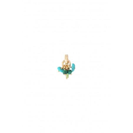 Pendentif glamour turquoise péridot malachite I vert