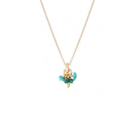 Pendentif glamour turquoise péridot malachite I vert85371