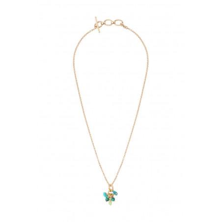 Pendentif glamour turquoise péridot malachite I vert85372