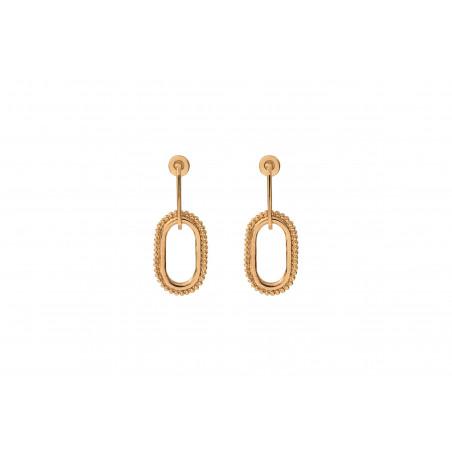 Boucles d'oreilles percées glamour métal I doré