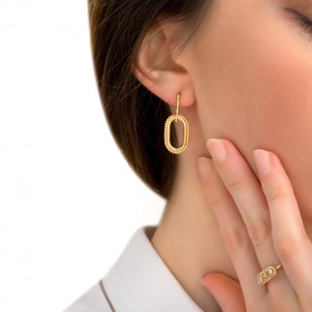 Boucles d'oreilles percées glamour métal I doré85414