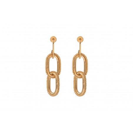 Boucles d'oreilles percées élégantes métal I doré