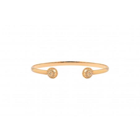 Bracelet jonc fin intemporel métal et cristaux Prestige I doré