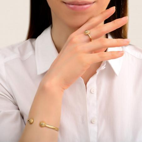 Bracelet jonc fin intemporel métal et cristaux Prestige I doré85448