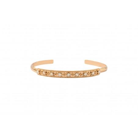Bracelet jonc fin romantique métal et cristaux Prestige I doré