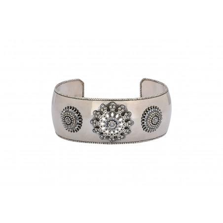 Bracelet manchette chic métal et cristaux Prestige I argenté