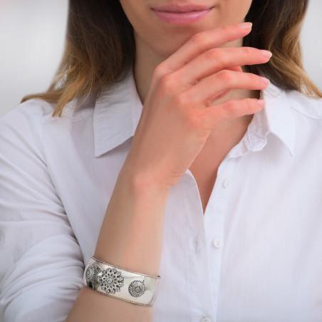Bracelet manchette chic métal et cristaux Prestige I argenté85454