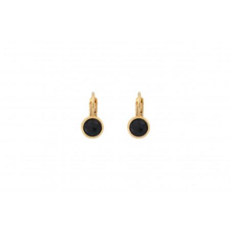 Boucles d'oreilles dormeuses raffinées onyx I noir