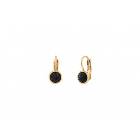 Boucles d'oreilles dormeuses raffinées onyx I noir85492