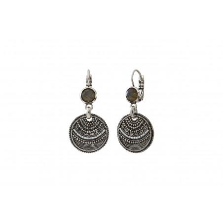 Boucles d'oreilles dormeuses élégantes labradorite I argent85513