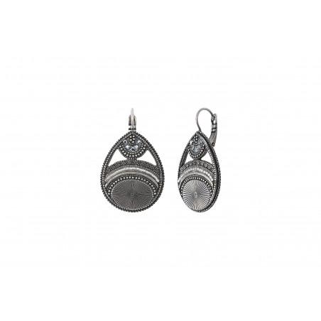 Boucles d'oreilles dormeuses graphiques cristaux Prestige I argenté85540