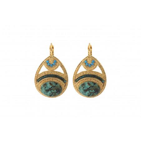 Boucles d'oreilles dormeuses féminines rubis zoisite cristaux Prestige I vert