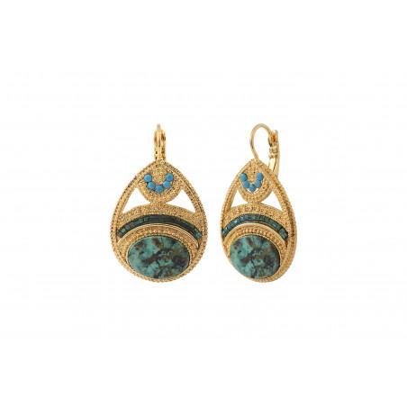 Boucles d'oreilles dormeuses féminines rubis zoisite cristaux Prestige I vert 85546