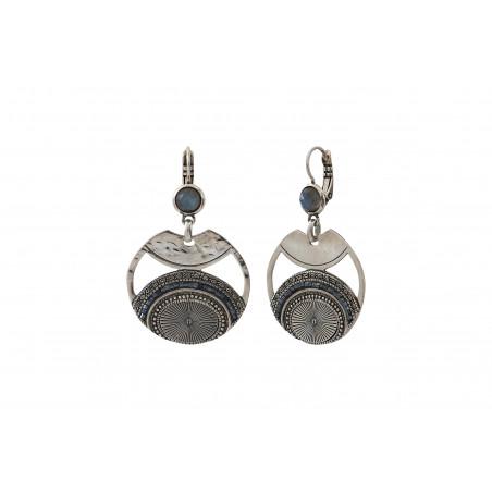 Boucles d'oreilles dormeuses modernes labradorite perles du Japon I argenté85549