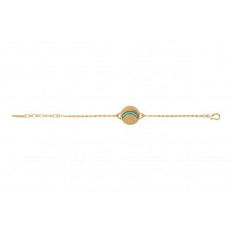 Bracelet souple coloré métal et perles du Japon I bleu85635